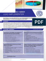 ISO 50001 Lead Implementer - Four Page Brochure
