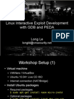 Linux Interactive Exploit Development With GDB and PEDA Slides