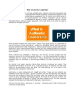 What is Authentic Leadership