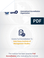 IAO Grants Accreditation to Holy Grace Institute of Management Studies