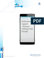Performance Support - Because Training is Not Enough