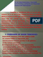 Preparation of Professional Teacher Organizing Professional Aspects of Teacher Preparation Programs