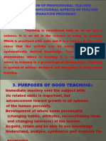 Preparation of Professional Teacher Organizing Professional Aspects of Teacher Preparation Programs