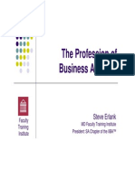The Profession of Business Analysis
