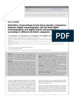 Estimation of Percentage Breast Tissue Density- Comparison Between Digital Mammography (2D Full Field Digital Mammography) and Digital Breast Tomosynthesis According to Different BI-RADS Categories