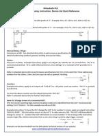Mitsubishi FX-PLC Addressing, Instruction & Device List Quick Ref