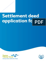 Settlement deed application form