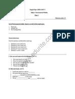 Cbse Class 1 Evs Sample Paper Term 1 Model 1