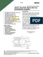 INA333 Instrumentation Amplifier