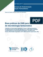 Boas Praticas da OMS para laboratórios de Microbiologia Farmaceutica