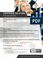 ISO 21500 Foundation - One Page Brochure