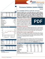 First Solution EQUITY RESEARCH REPORT