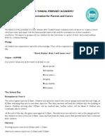 English Information for Parents Letter