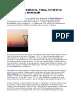 Energia, Flavio Cattaneo, Terna, nel 2013 in crescita le fonti rinnovabili