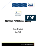 Workflow Performance Tuning