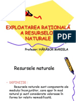 Exploatarea rationala  a resurselor naturale