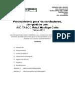 Código de prácticas del transporte