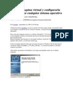 Instalar Maquina Virtual y Configurarla Para Instalar Cualquier Sistema Operativo