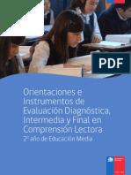 2° MEDIO - Orientaciones e instrumentos de evaluación Diagnóstica, intermedia y final de comprension lectora