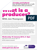 Jon Thompson What is a Producer