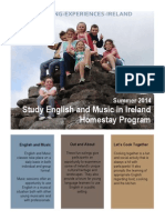 Study English and Music in Ireland, Summer 2014