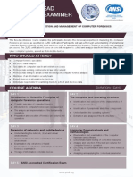 Certified Lead Forensics Examiner - Two Page Brochure