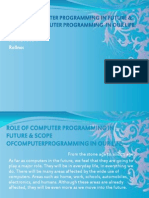 Role of Computer Programming in Future & Scope