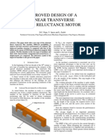 Improved Design of a Linear Transverse Flux Reluctance Motor