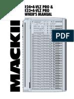 Mackie - Mesa de Som Srvlzpro
