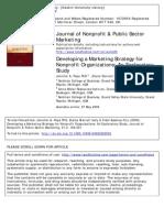 Developing NPOs Marketing Strategies