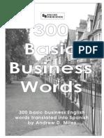 300 Basic Business Words English to Spanish