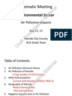 Environment (Air Pollution Impacts) Nairobi