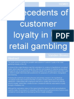The Antecedents of Customer Loyalty in Retail Gambling