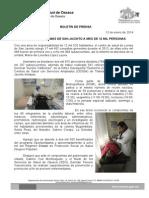 12/01/14 ATIENDE CS LOMAS DE SAN JACINTO A MÁS DE 12 MIL HABITANTES