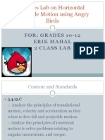 Angry Brids Lesson Plan