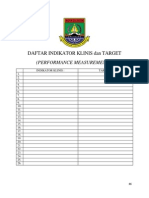 Daftar Indikator Klinis