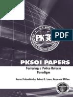 Fostering a Police Reform Paradigm