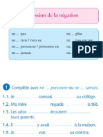 expression de la négation exercices