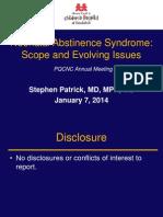 PQCNC 2014 Annual Meeting -  Stephen Patrick