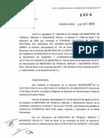 Resolucion MTEySS Nº1504/2013