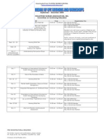 Tentative Schedule of Cpe Seminars and Workshops