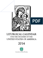 Liturgical Calendar 2014
