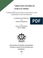 Thesis-badal Kumar Kujur-10605005blast Vibration Studies in Surface Mines