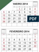 Calendario 2014 Simples