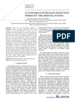 A Two-Level Autonomous Intrusion Detection Model Inspired by the Immune System
