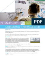 Climate-KIC Community Newsletter, January 2014
