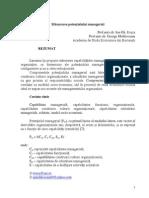 fLEXIB. ORGANIZATIEI.masurarea Potentialului Managerial