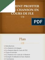 COMMENT PROFITER D'UNE CHANSON EN COURS DE FLE