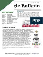 Beagle Elementary School Newsletter December 20 2013