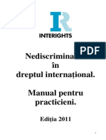 Interights Nediscriminarea Manual Ro Final for PDF